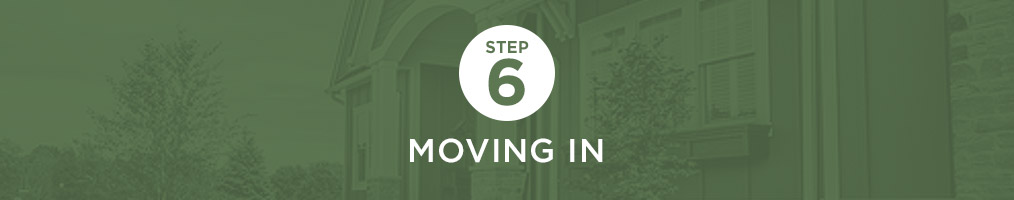 Step 6 - Moving in
