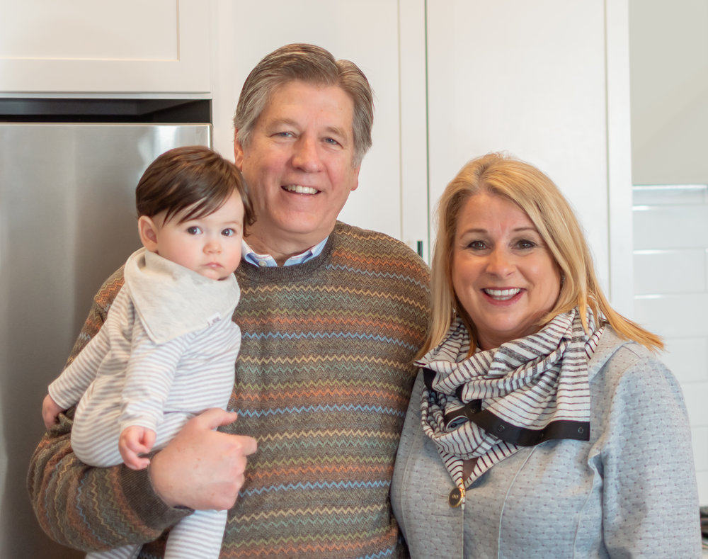 Bill and Janell with their grandson Charlie.