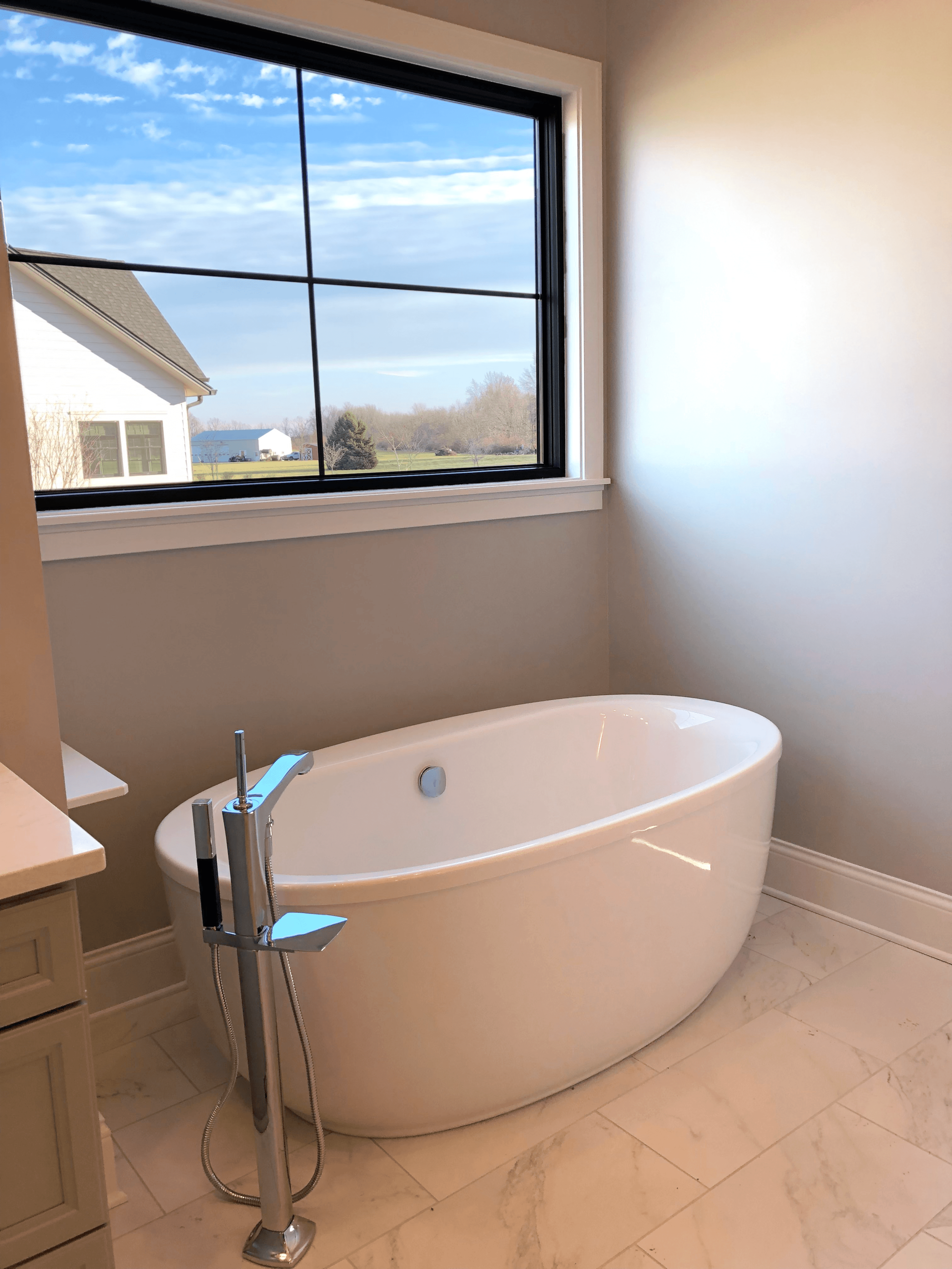 There's nothing better than natural light for a relaxing bath.