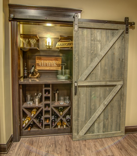 Is it possible to install a fully functioning bourbon bar off the basement rec room?