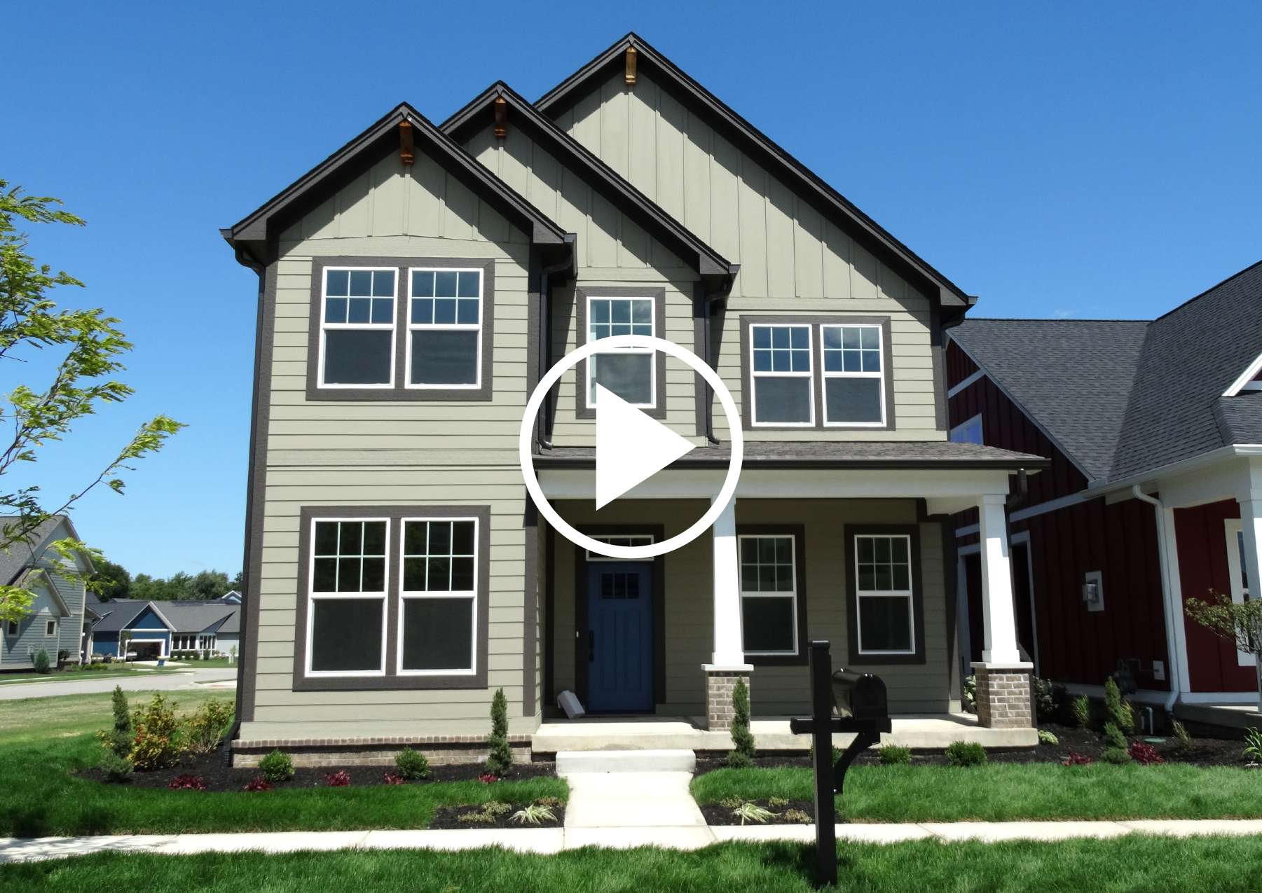 KEY SERIES - MAPLE PLAN: Craftsman, Master Up, 3 Bed, 2-Story BUILD IN:  Sunrise on the Monon  only  DOWNLOAD FLOOR PLAN