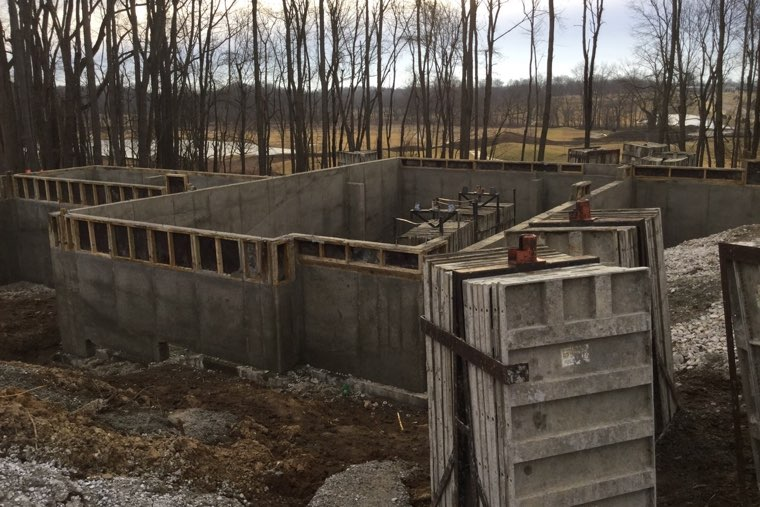 Once the foundation and basement are poured, it needs to set for 7-28 days.