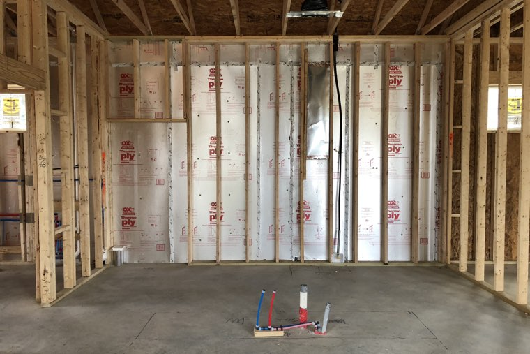 Framing, electric, HVAC and plumbing. Then more inspections.