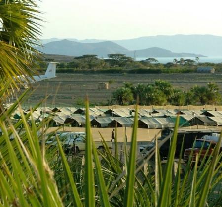 Constant Gardener Film Camp on the shores of Lake Turkana