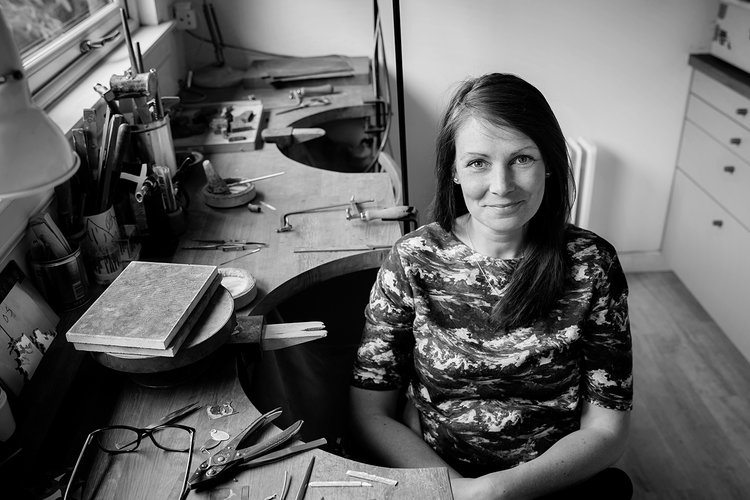 About Hannah - A graduate of The Royal College of Art (2004), and Glasgow School of Art (2000), Hannah has exhibited her jewellery internationally and now works from her studio near Edinburgh, making jewellery to commission and for exhibitions.Find out more →