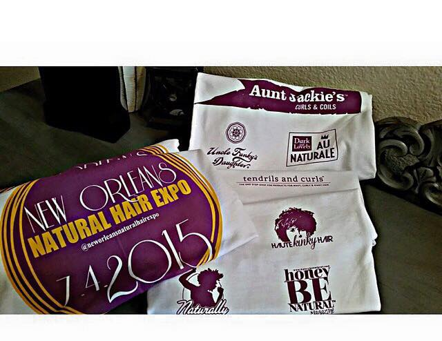 T-shirt design and logo for the New Orleans Natural Hair Expo!