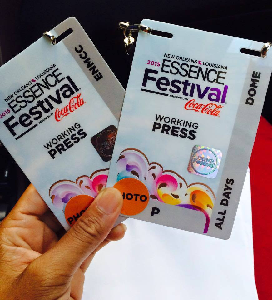 Media/Photographer for Essence Festival, the largest festival for African Americans.