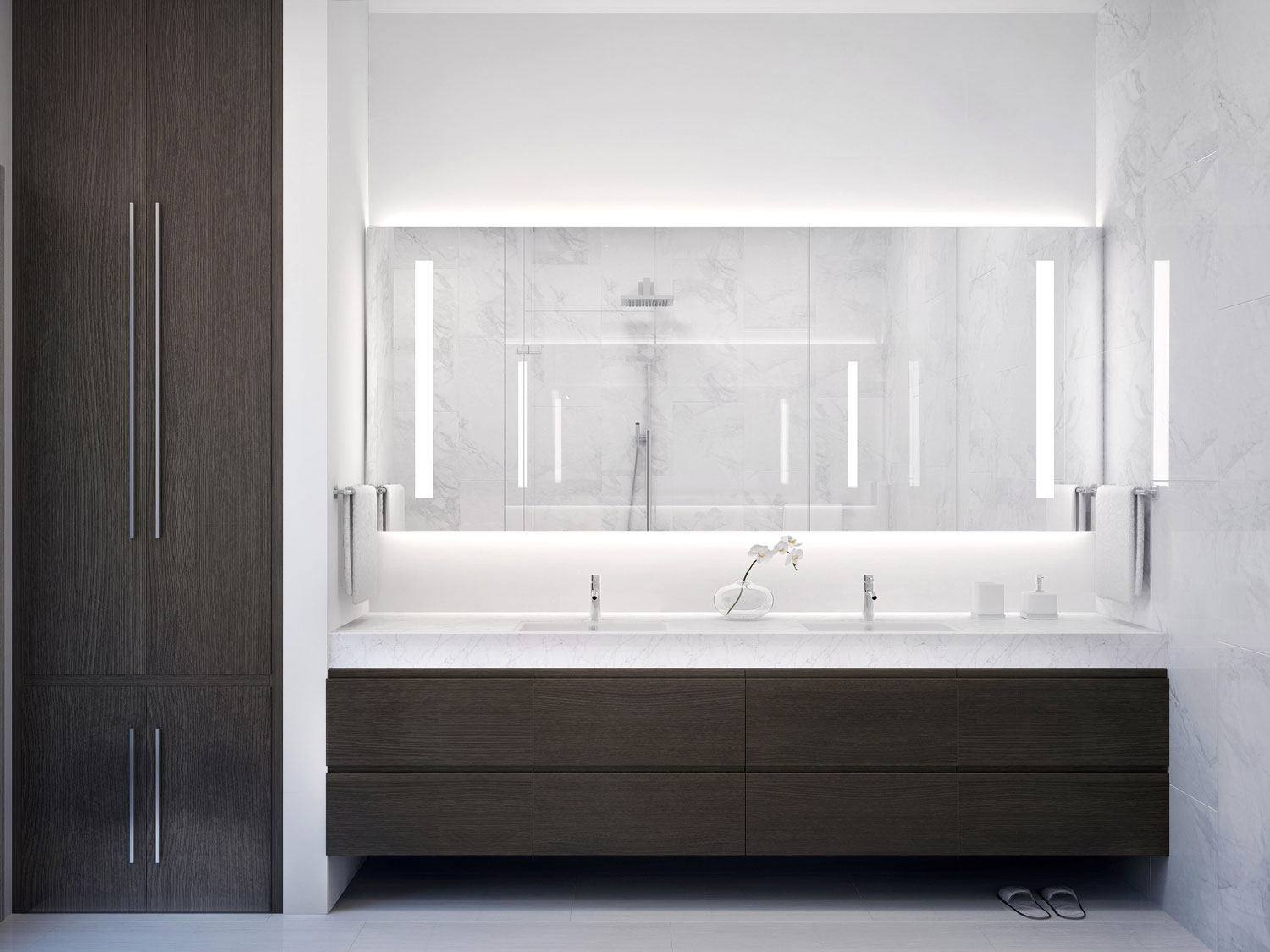 Riva Ft.Lauderdale Bathroom Vanities with Closet Door