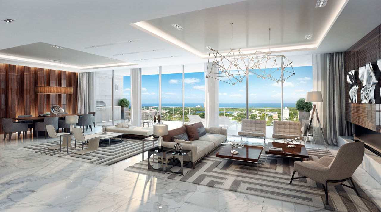 Riva Ft.Lauderdale Penthouse Great Room