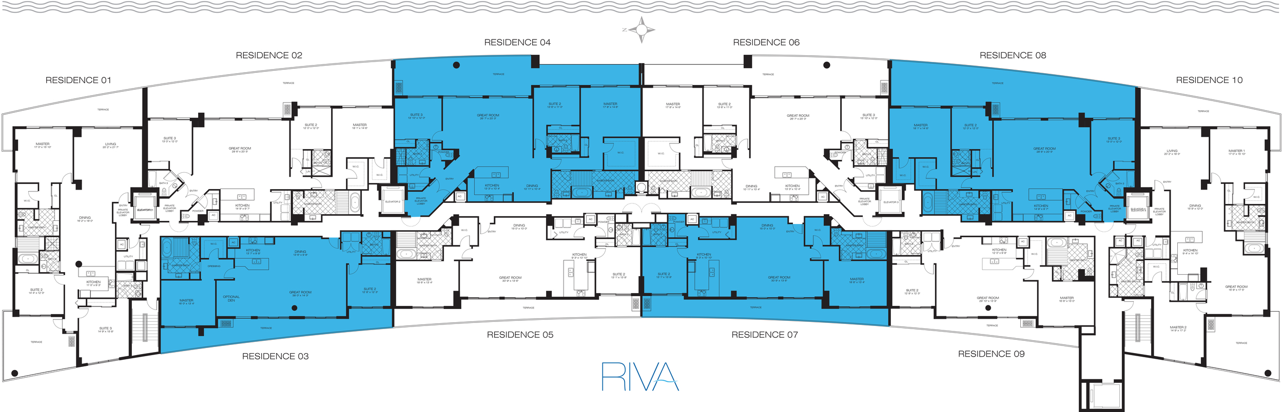 Riva Ft.Lauderdale Condos Key Plan