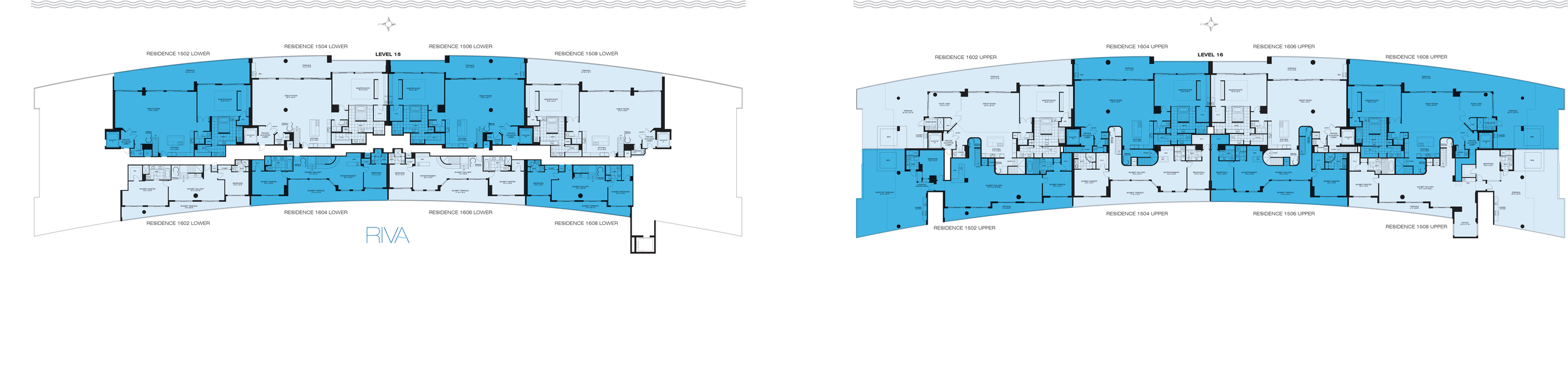 Riva Ft.Lauderdale Penthouse Key Plan