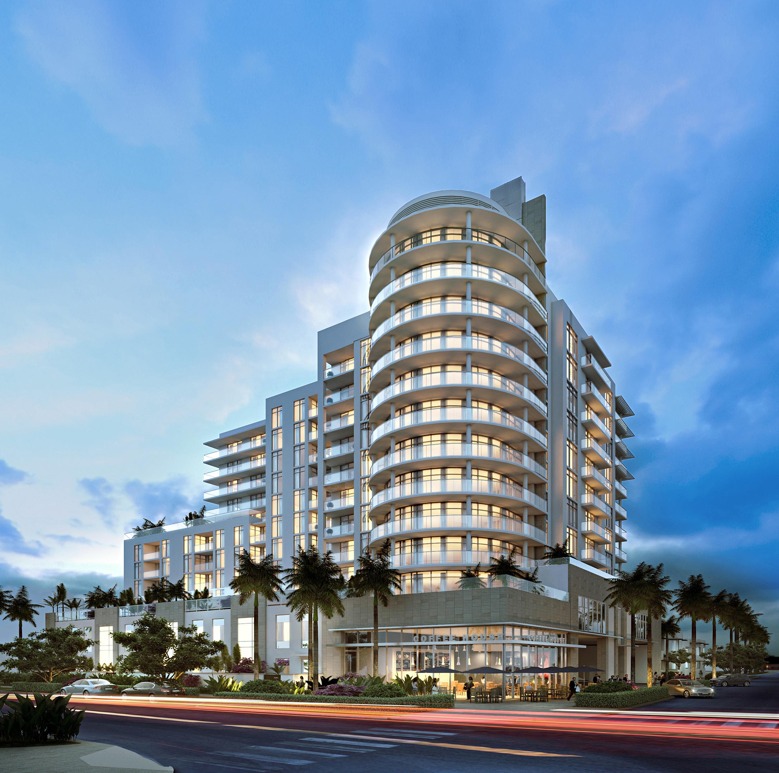 Gale Ft.Lauderdale Residences Building At Dusk