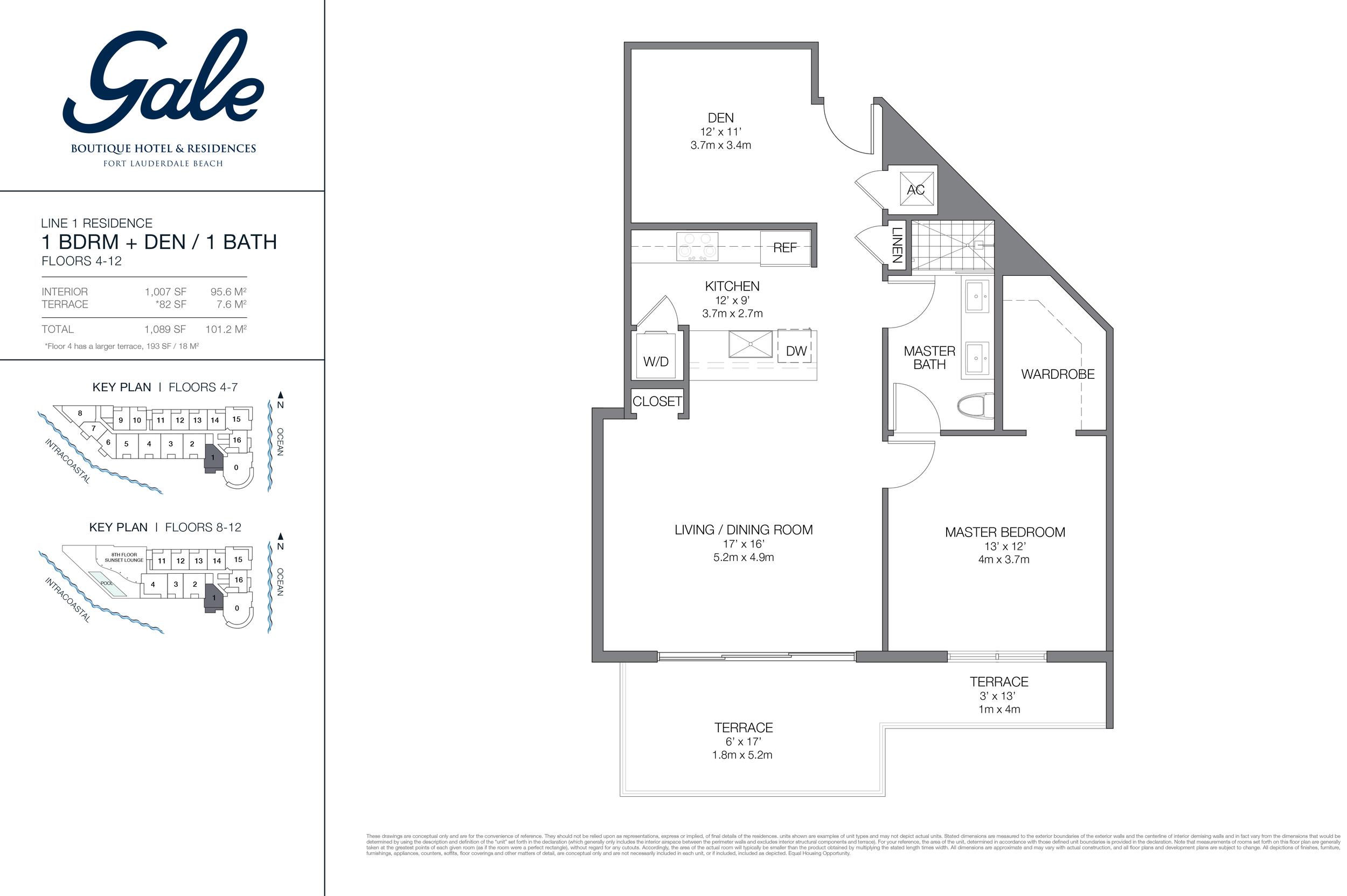 Gale Ft.Lauderdale Floor Plan Line 1