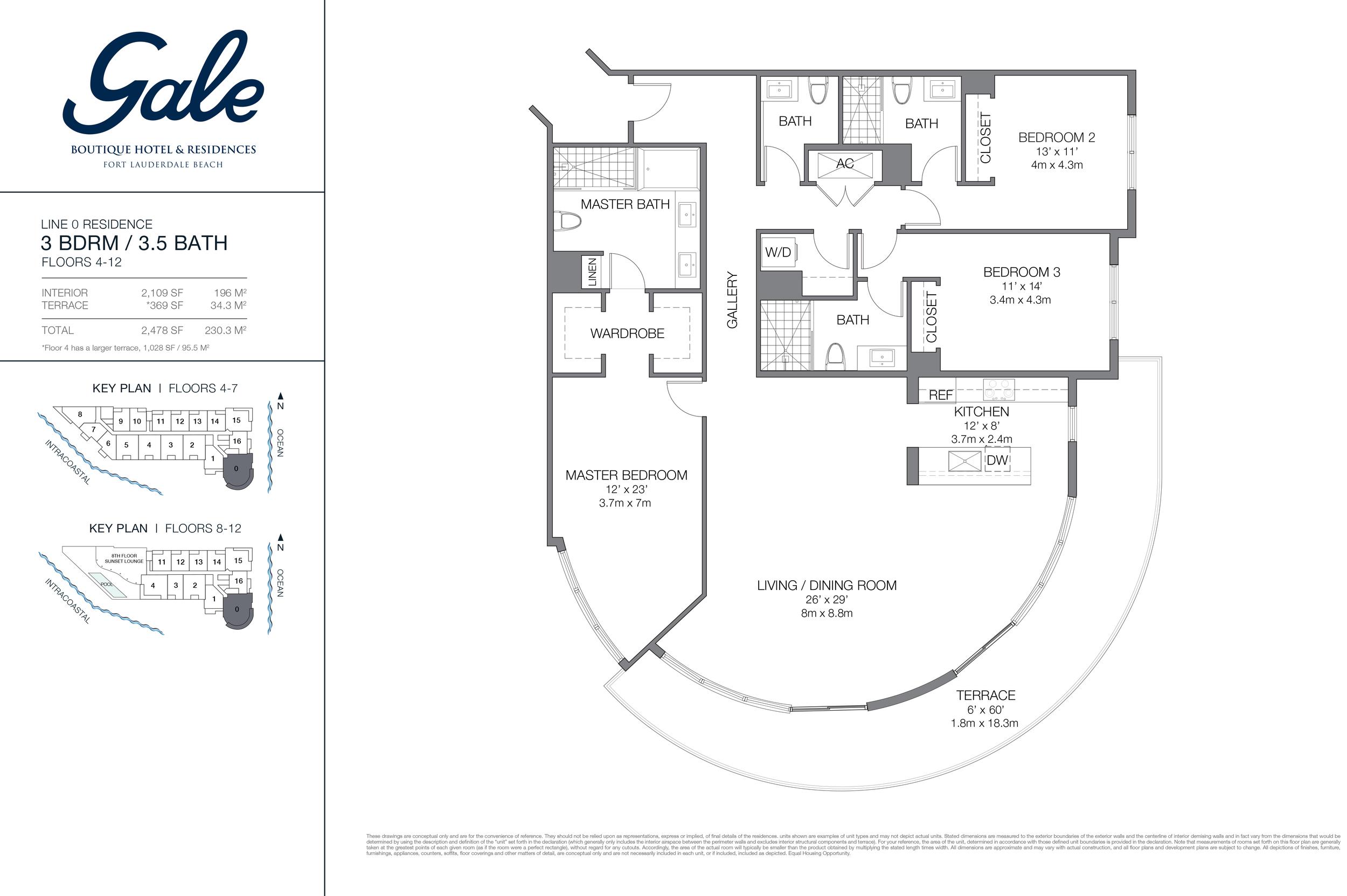 Gale Ft.Lauderdale Floor Plan Line 0