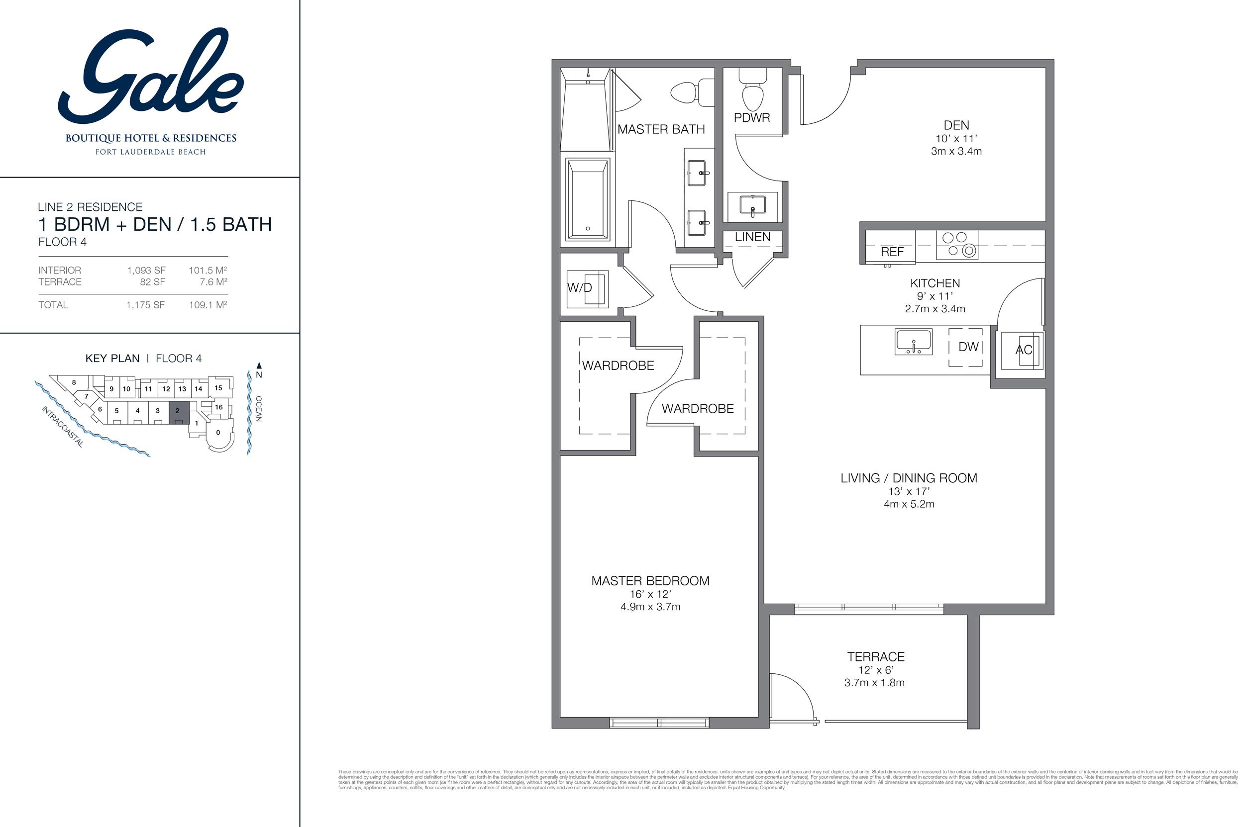 Gale Ft.Lauderdale Floor Plan Line 2