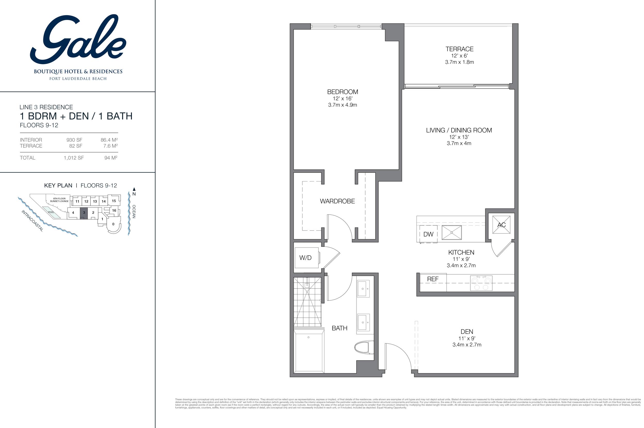 Gale Ft.Lauderdale Floor Plan Line 3