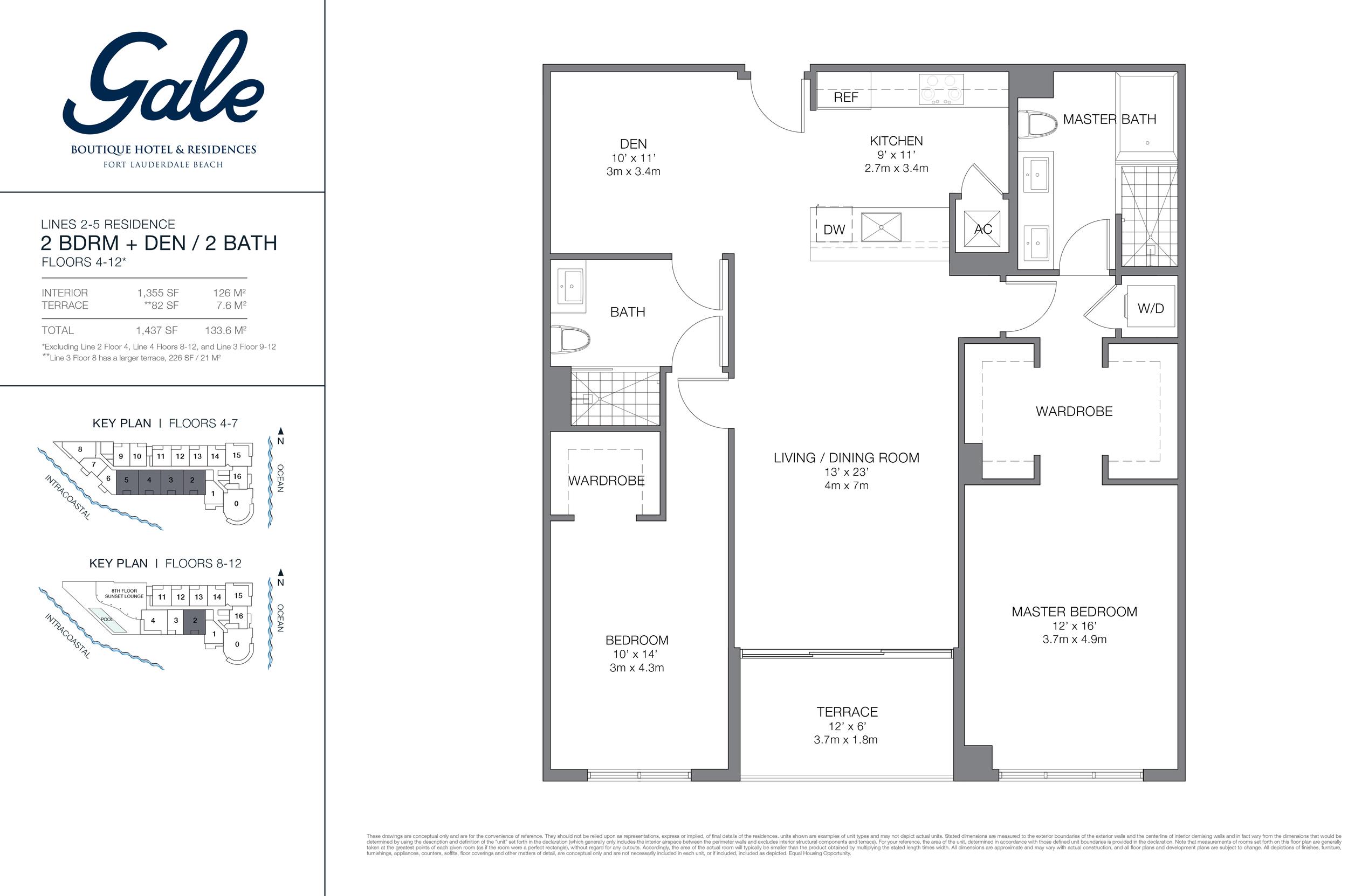Gale Ft.Lauderdale Floor Plan Lines 2-5