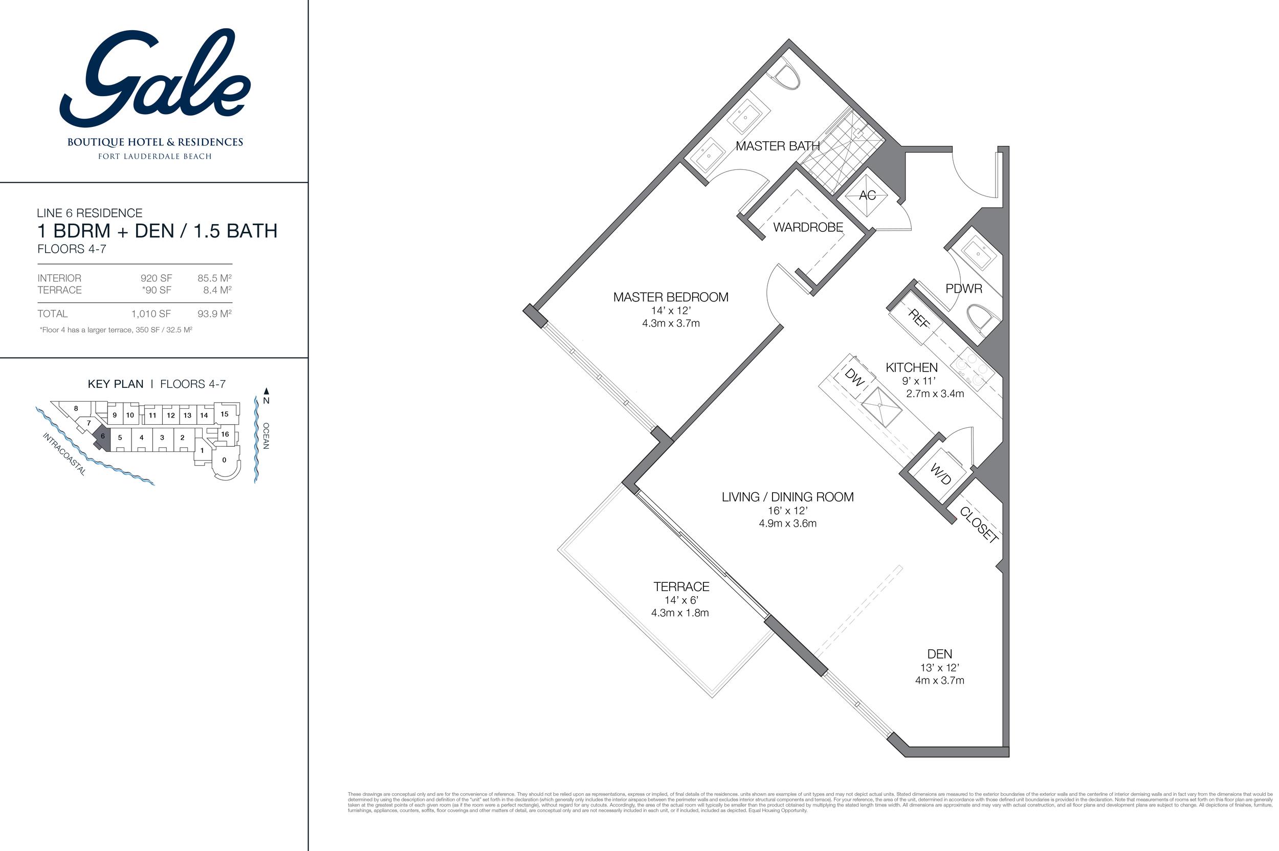 Gale Ft.Lauderdale Floor Plan Line 6