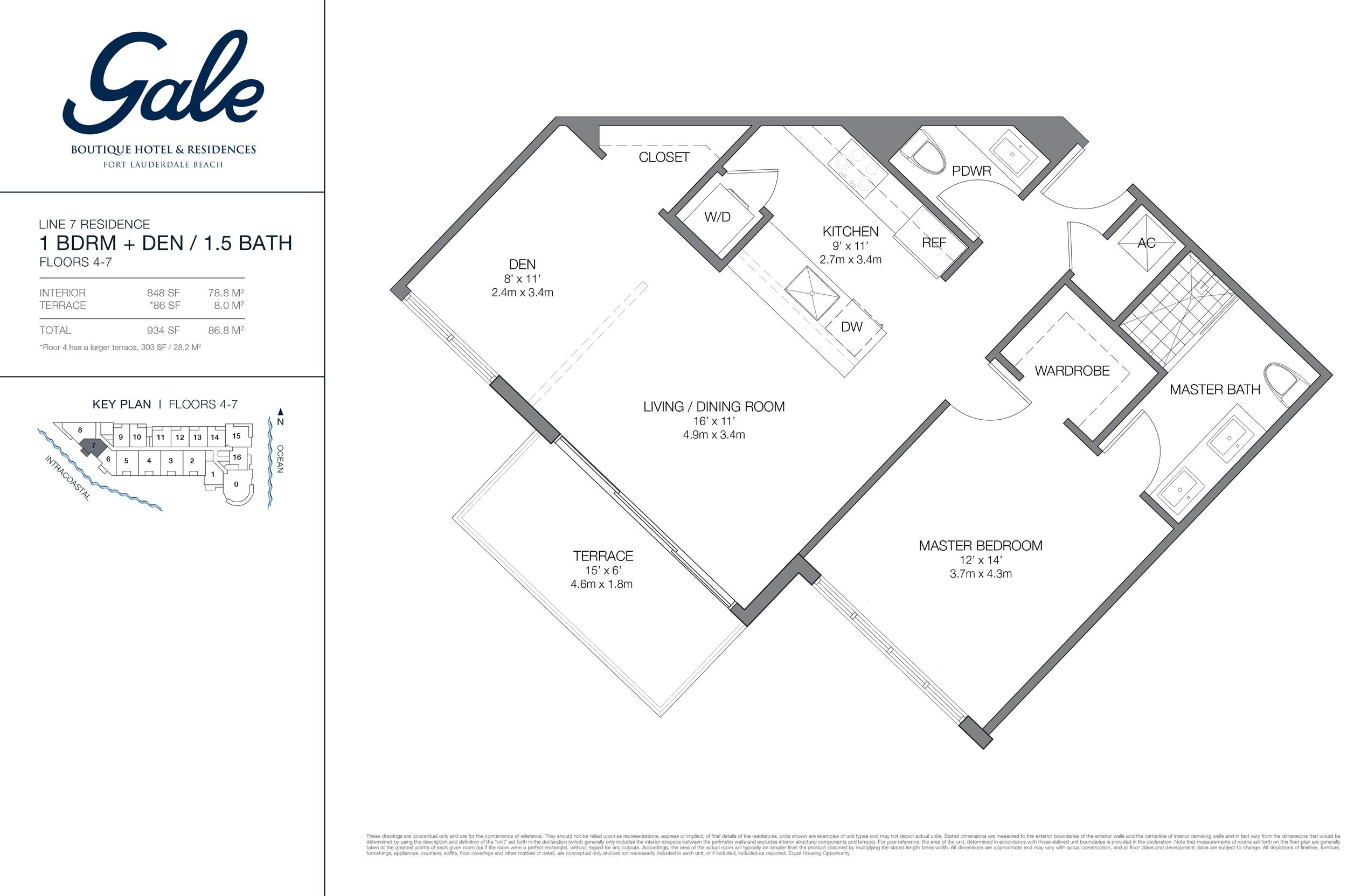 Gale Ft.Lauderdale Floor Plan Line 7