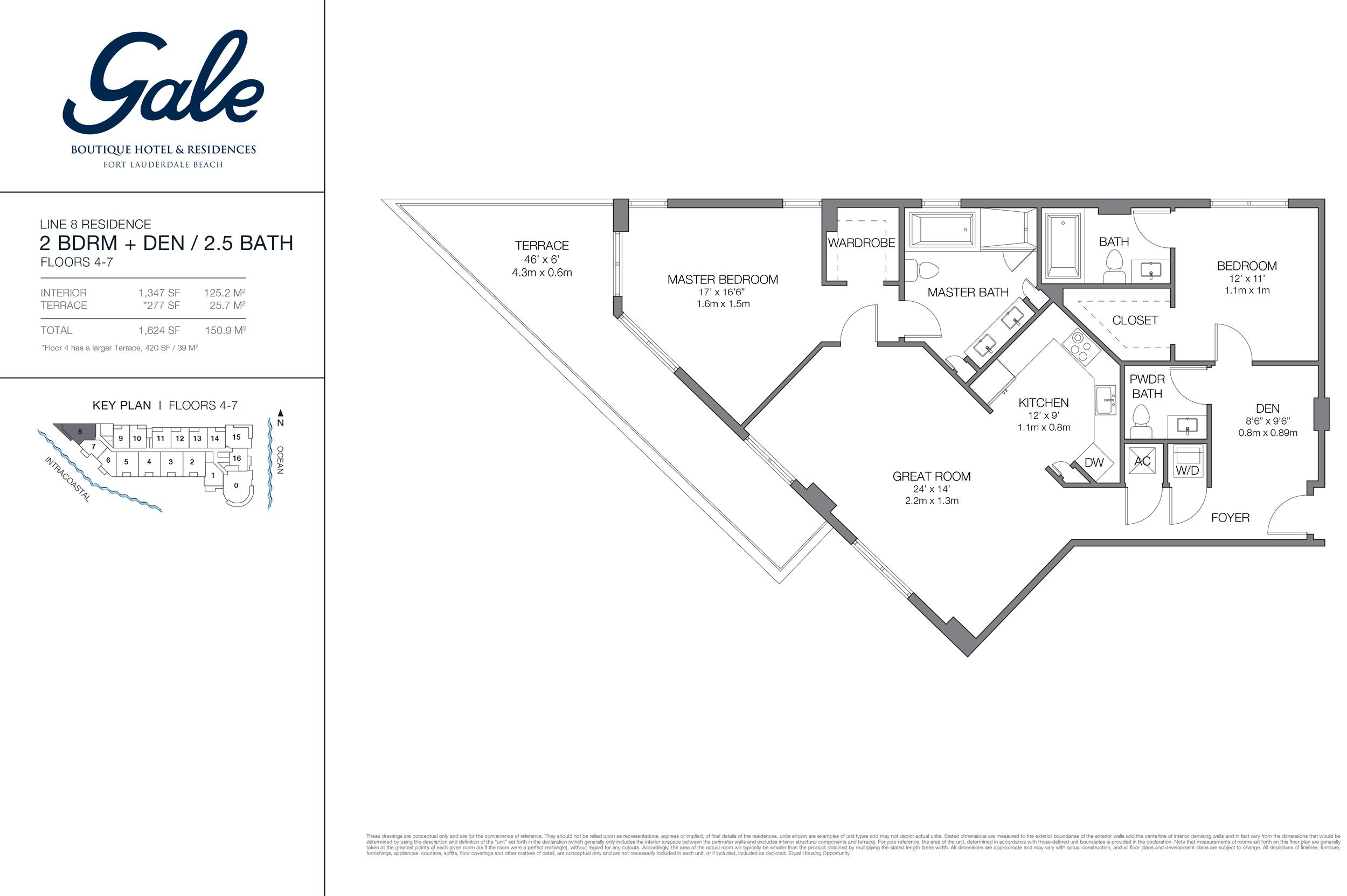 Gale Ft.Lauderdale Floor Plan Line 8