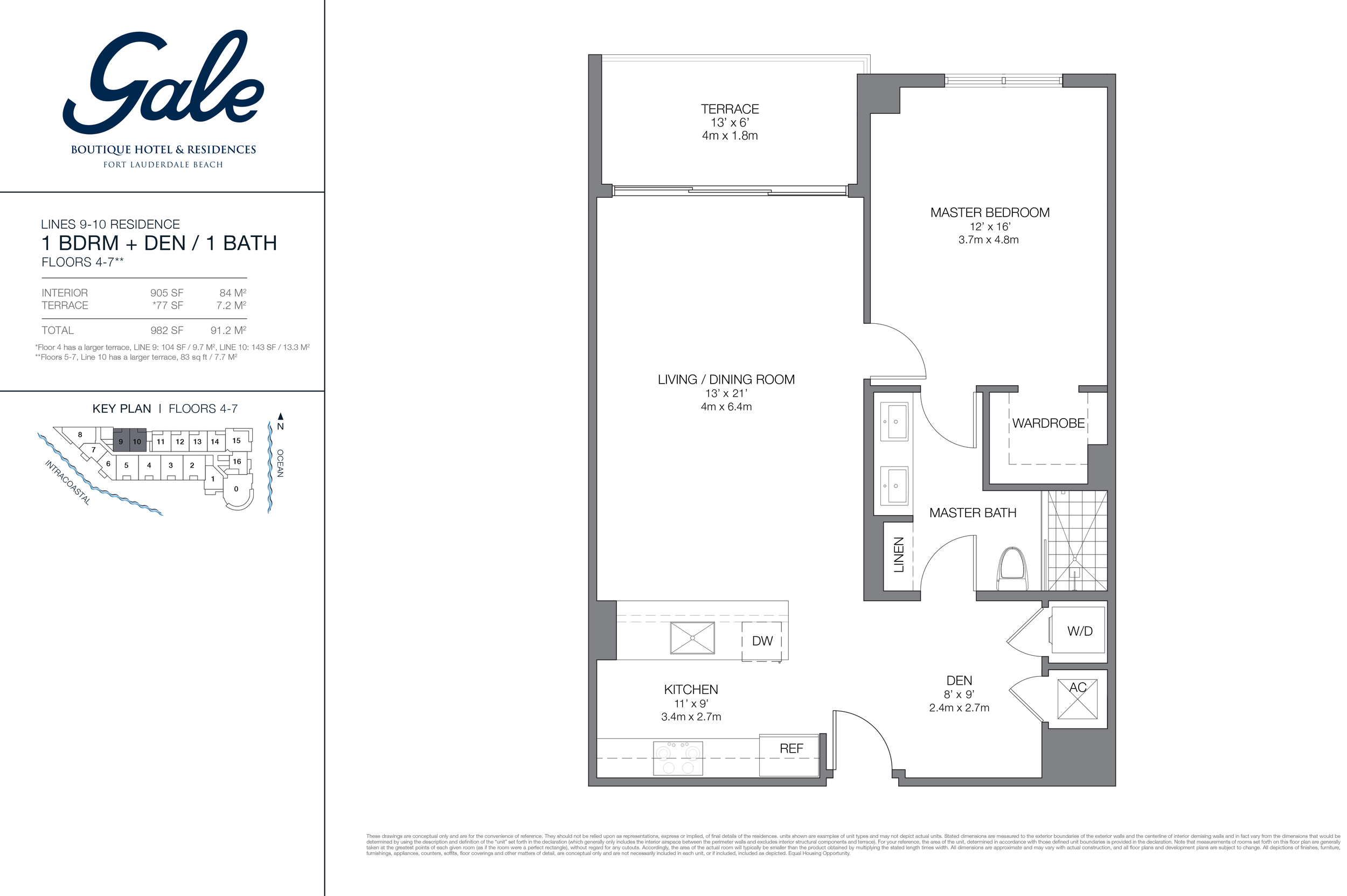 Gale Ft.Lauderdale Floor Plan Lines 9 and 10