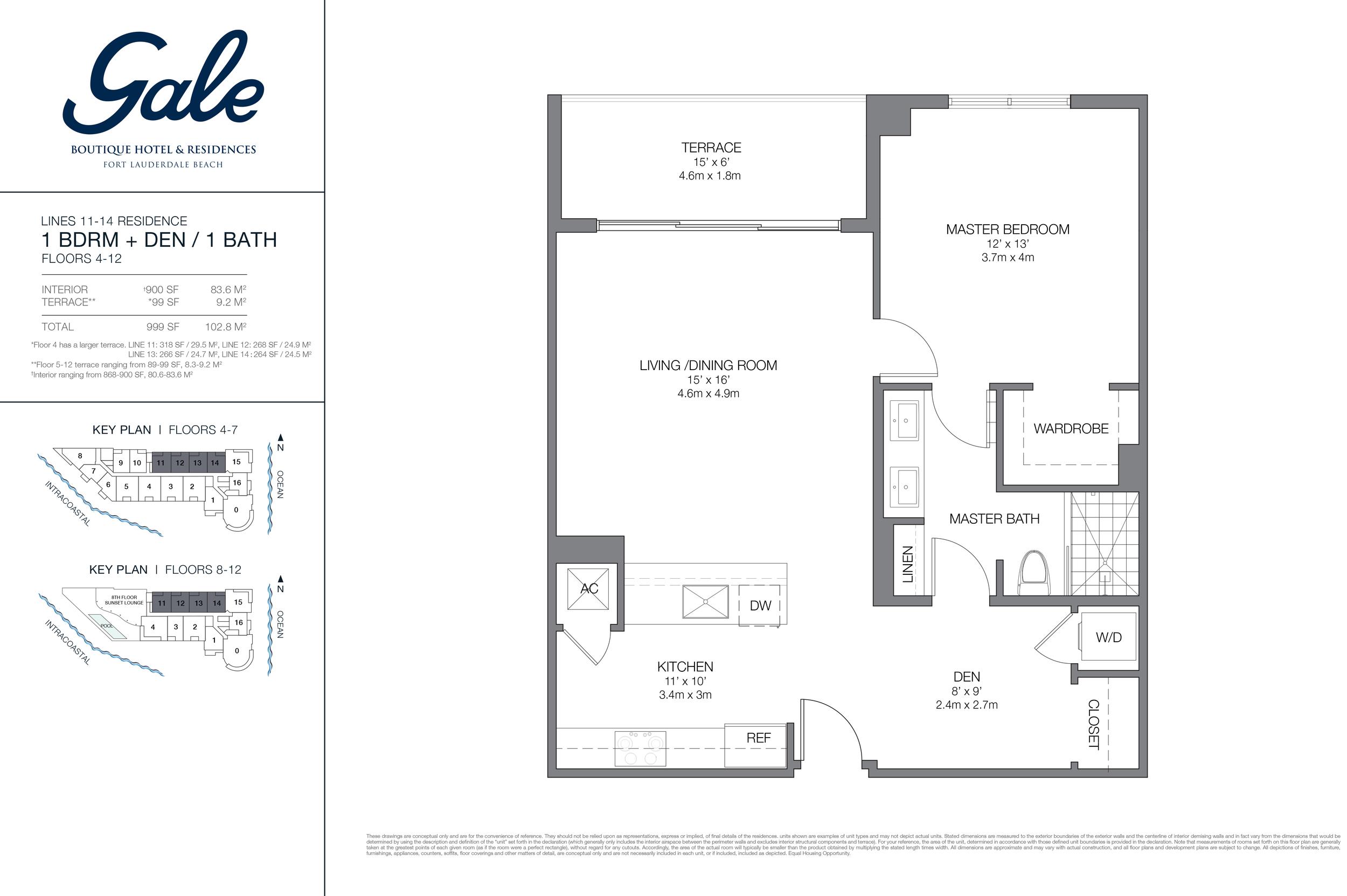 Gale Ft.Lauderdale Floor Plan Lines 11-14
