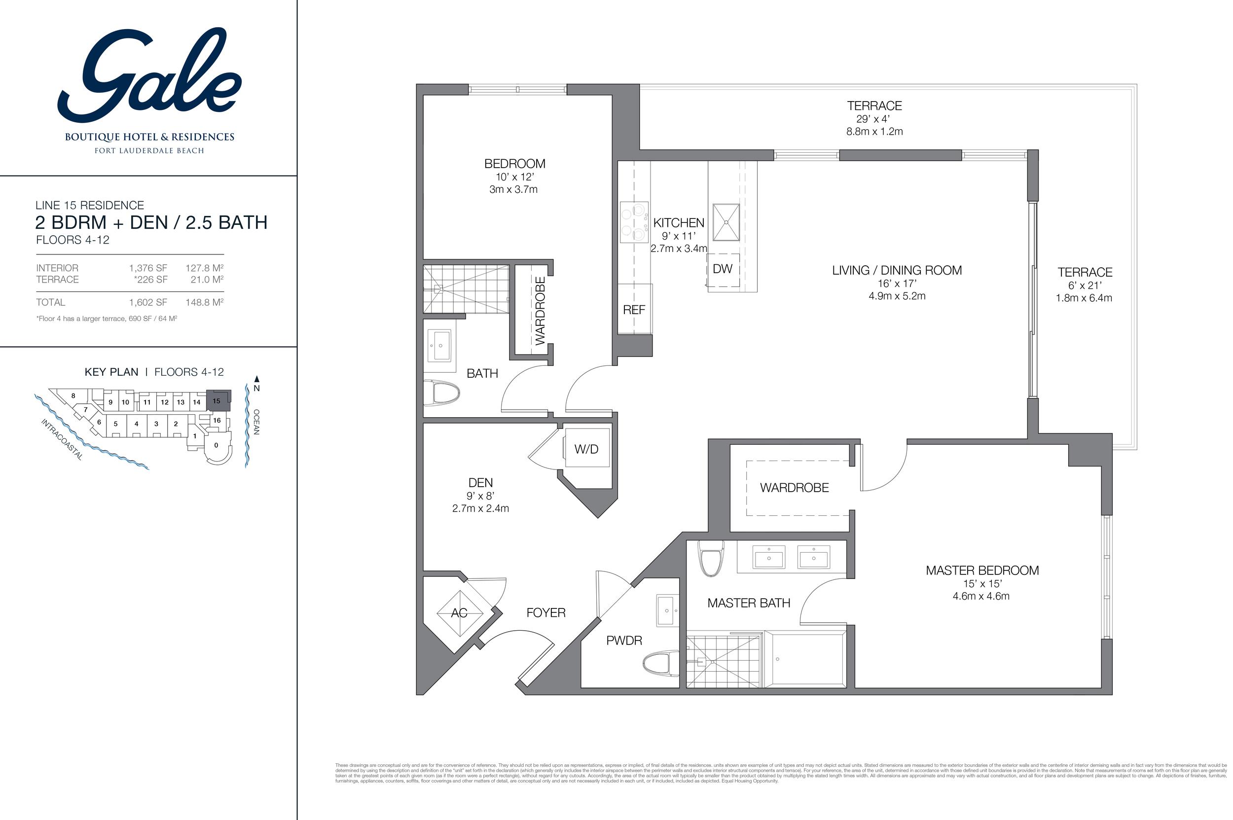 Gale Ft.Lauderdale Floor Plan Line 15