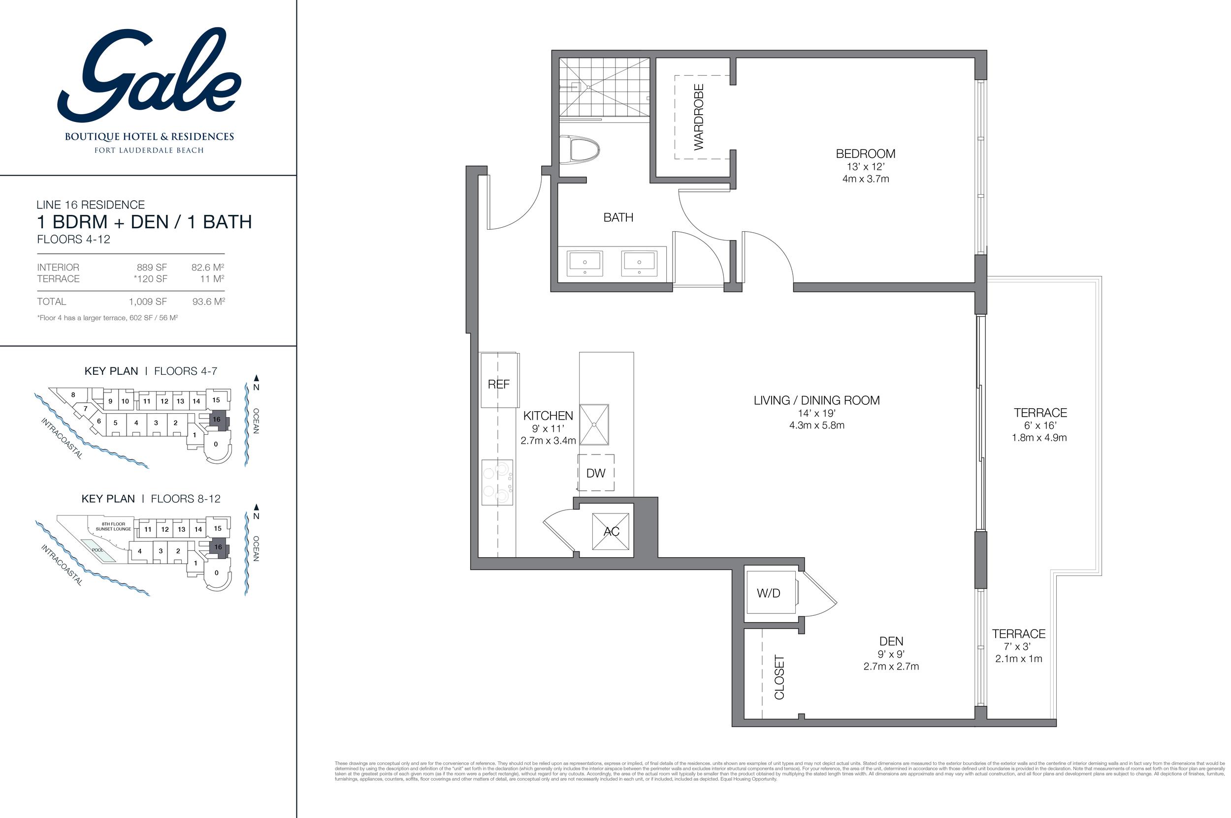 Gale Ft.Lauderdale Floor Plan Line 16