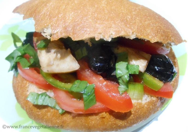 Pan bagnat (végétalien)