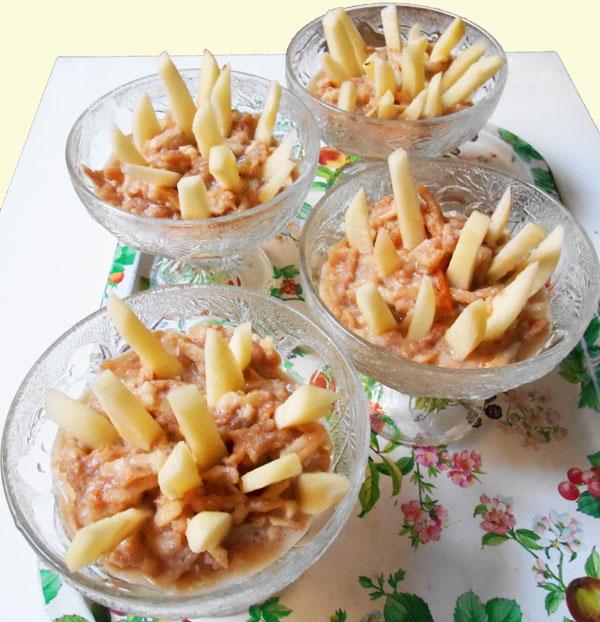 Pommes à la grivette (végétalien)