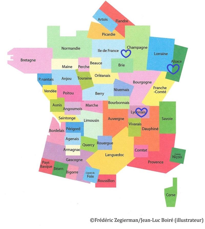 Spécialité d'Alsace, Lorraine, Ile-de-France, Champagne, Lyonnais
