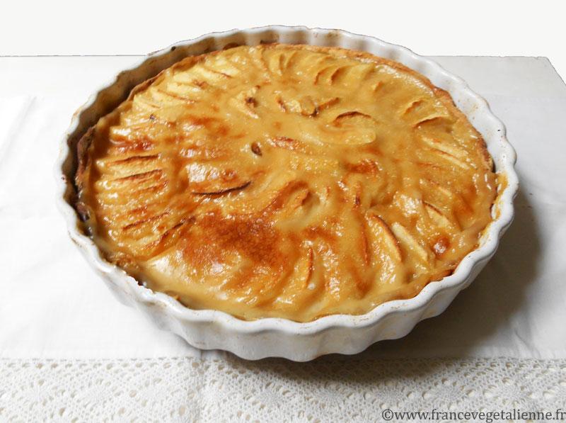 Tarte aux pommes à l'alsacienne (végétalienne)