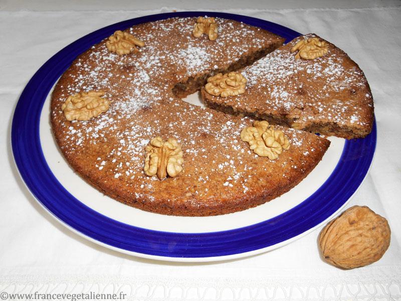 Gâteau aux noix du Périgord (vegan)