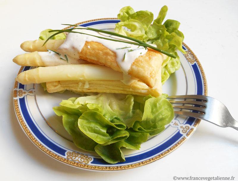 Feuilleté d'asperges (recette végane)