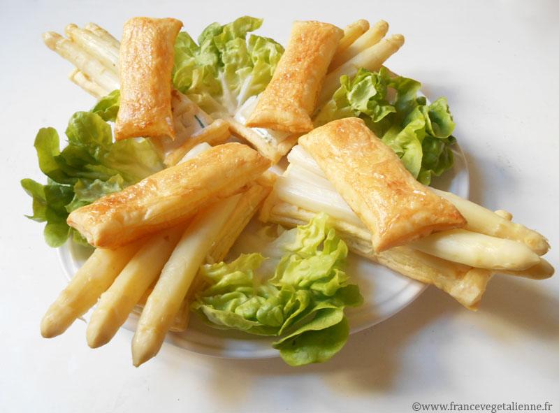 Feuilletés d'asperges (végétalien)