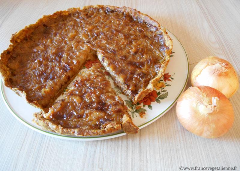 Tarte à l'oignon végane (sans gluten)