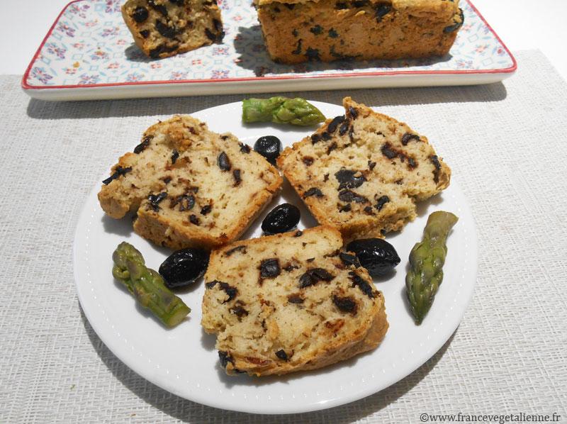 Cake aux olives (sans oeuf, sans produit laitier)
