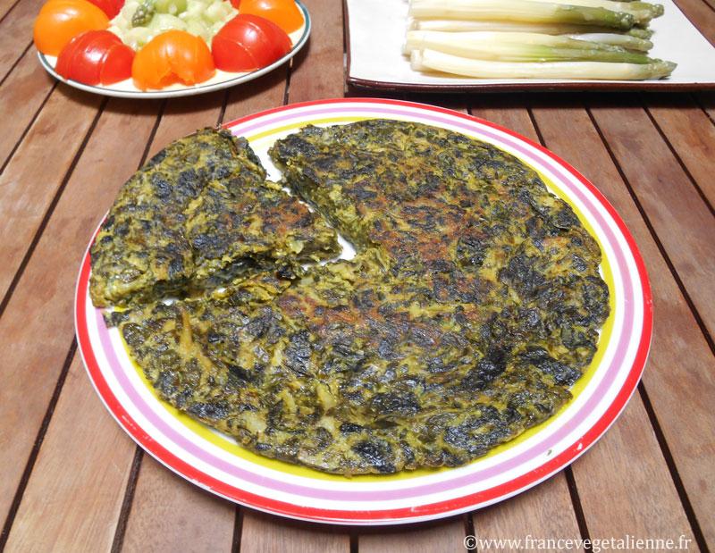 Truchia (omelette aux blettes végane)