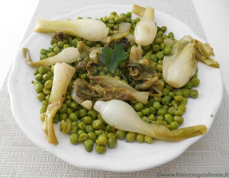 Petits pois à la française (recette végétalienne)