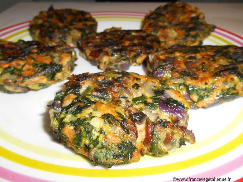Galettes aux légumes