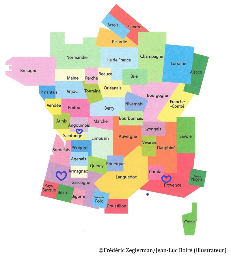Spécialité de Gascogne, Provence, Comtat, Angoumois et Saintonge