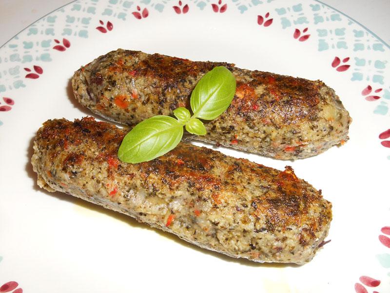 Saucisses d'herbes (aux haricots rouges, vegan)