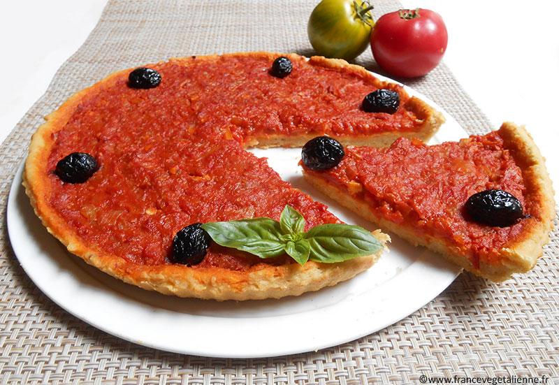 Pichade (pizza mentonnaise, recette végane)