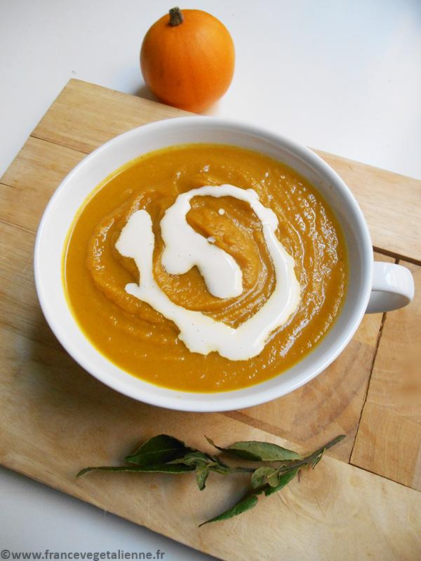 Soupe au potiron (recette végétalienne)