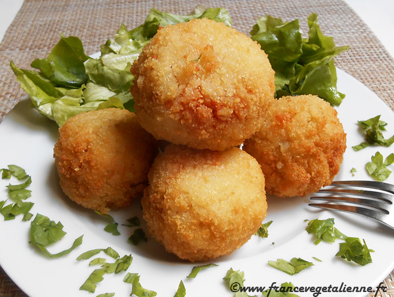 Arancini (boulettes de riz; recette végane)