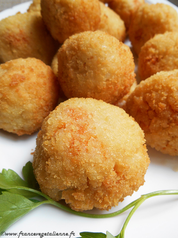 Arancini (boulettes de riz, vegan)
