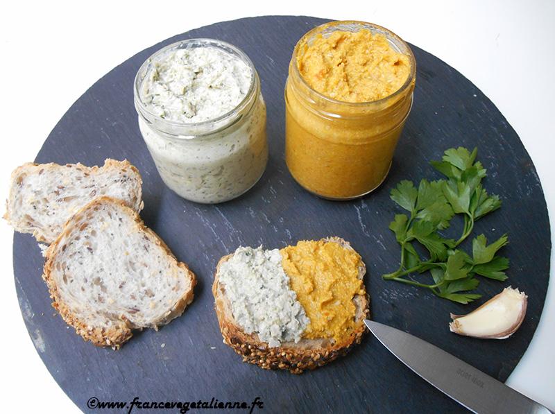 Tartinades aux graines de tournesol (recette végane)