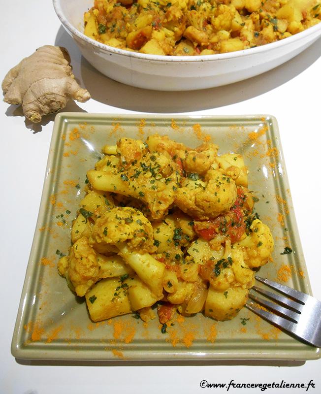 Aloo gobi (recette végétalienne)