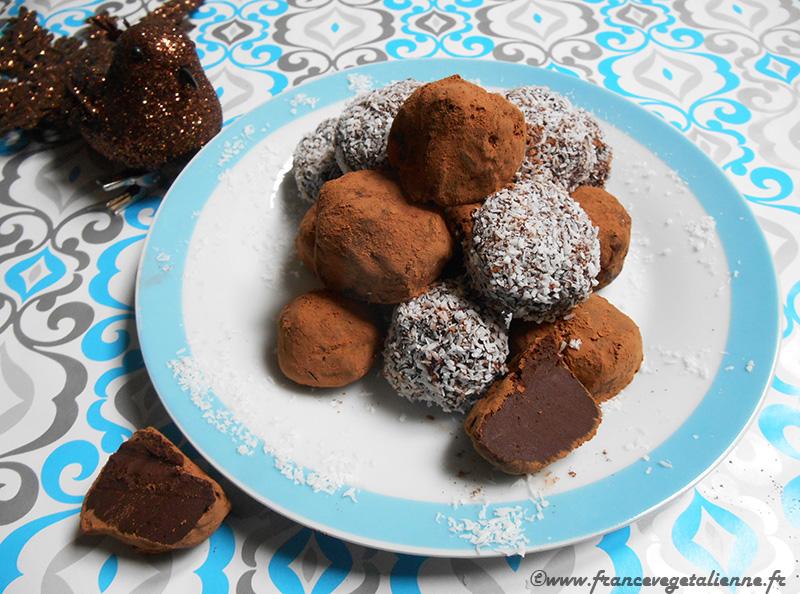 Truffes en chocolat (recette végane)