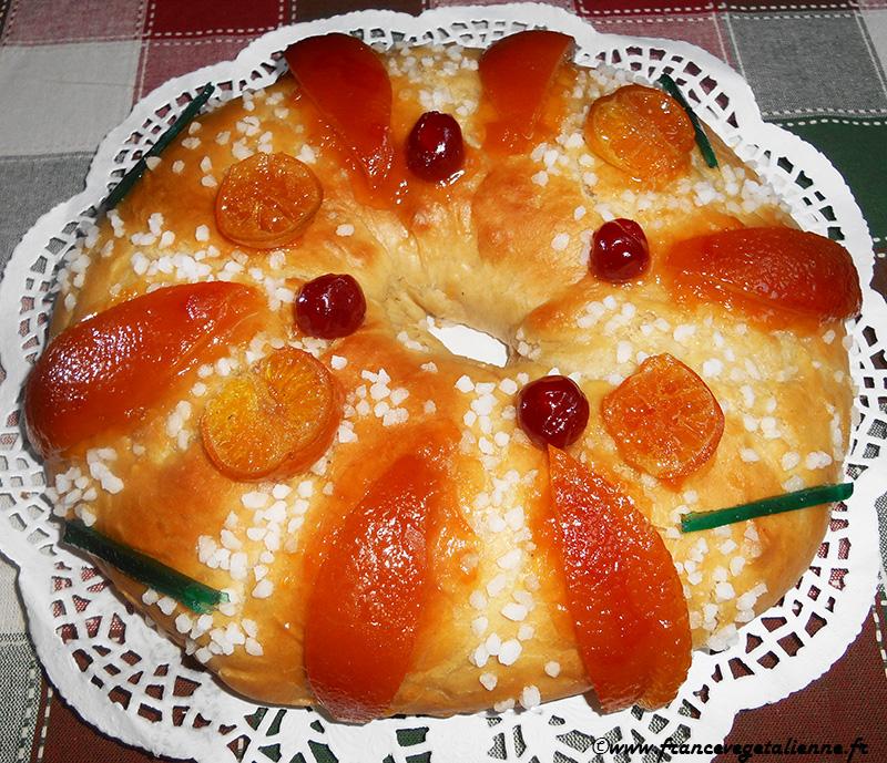 Gâteau (couronne) des rois (vegan)